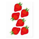 Pretty Strawberries Postcard