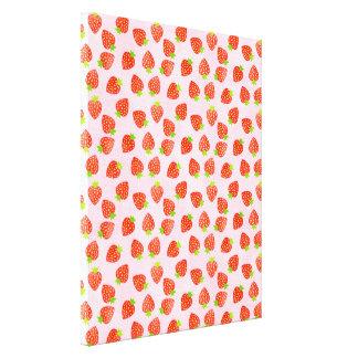 Pretty Strawberry Cream Pattern Canvas Print