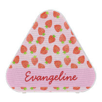 Pretty Strawberry Cream Pattern Personalized Speaker
