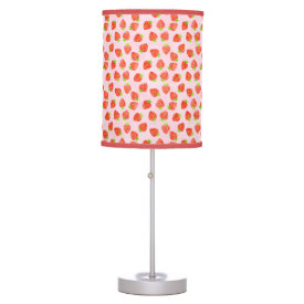 Pretty Strawberry Cream Pattern Table Lamp