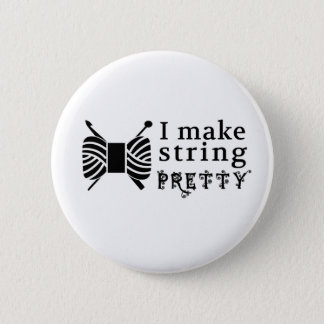 Pretty String/Yarn {Light} Button