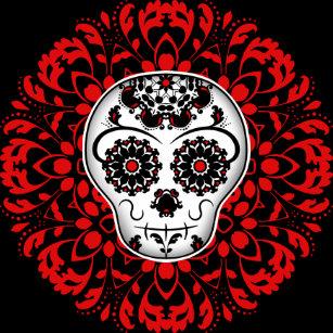 971def49a4ca Pretty sugar skull faux canvas print