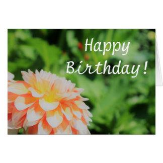 Pretty Summer Dahlia 'Happy Birthday' Card