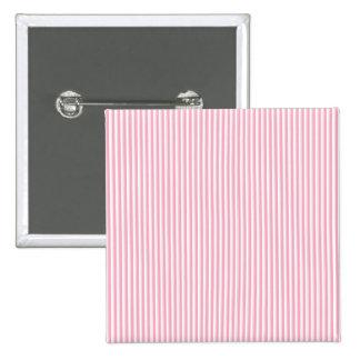Pretty Summer Time Bubble Gum Pink Striped Pattern 2 Inch Square Button
