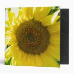 Pretty Sunflower 3 Ring Binders