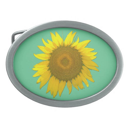 Pretty Sunflower belt-buckle Oval Belt Buckles