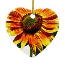 Pretty Sunflower Ceramic Ornament