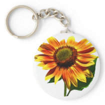 Pretty Sunflower Keychain