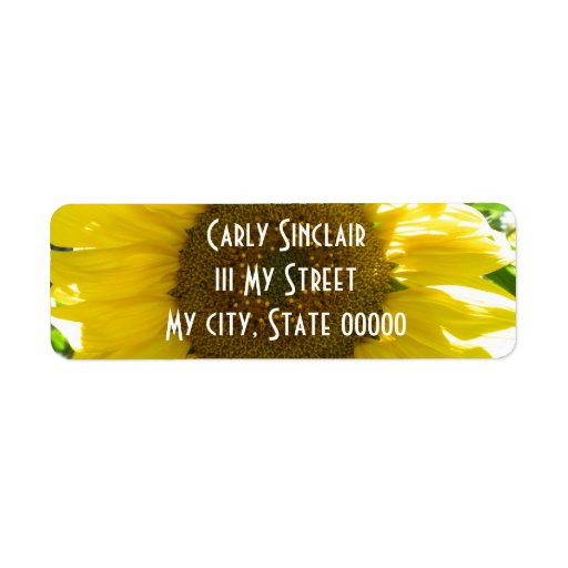 Pretty Sunflower Label