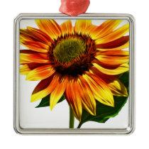 Pretty Sunflower Metal Ornament