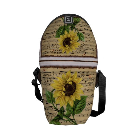 Pretty Sunflower On  Music Messenger Bag