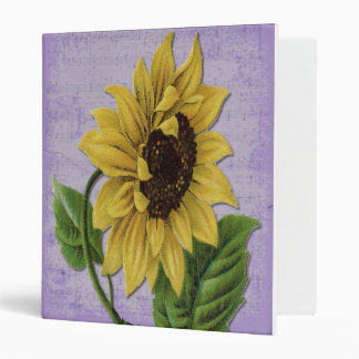Pretty Sunflower On Sheet Music Binder
