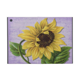 Pretty Sunflower On Sheet Music Case For iPad Mini