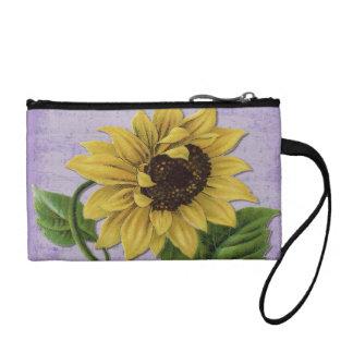 Pretty Sunflower On Sheet Music Change Purse