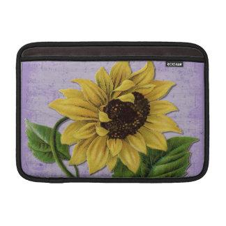 Pretty Sunflower On Sheet Music MacBook Air Sleeve