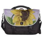 Pretty Sunflower On Sheet Music Laptop Commuter Bag