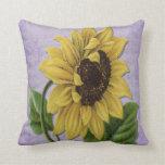 Pretty Sunflower On Sheet Music Pillows
