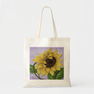 Pretty Sunflower On Sheet Music Tote Bag