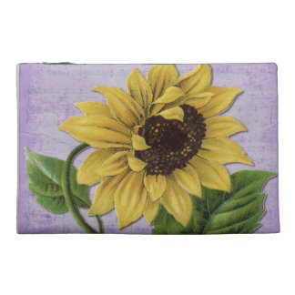 Pretty Sunflower On Sheet Music Travel Accessory Bag