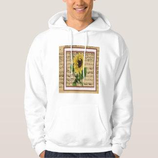 Pretty Sunflower On Vintage Sheet Music Hoodie
