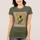 Pretty Sunflower On Vintage Sheet Music T-Shirt