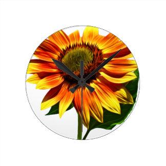 Pretty Sunflower Round Clock