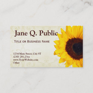 sunflower design business cards zazzle