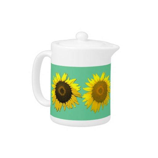 Pretty Sunflower Teapot