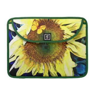 Pretty Sunflower with Butterfly Macbook Sleeve MacBook Pro Sleeves