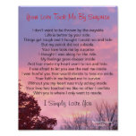 Pretty Sunset I Simply Love You Poem Poster