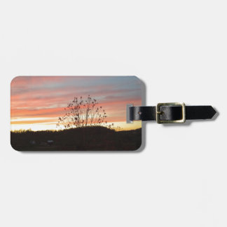 Pretty sunset luggage tag