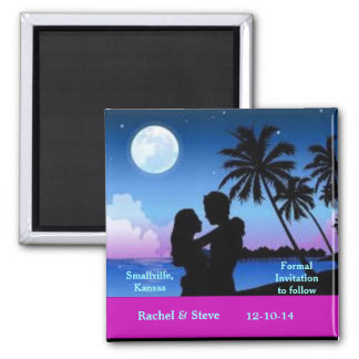 Pretty Sunset Save the Date Wedding Magnet