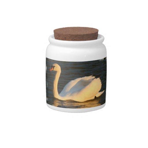 Pretty Swan Candy Jar