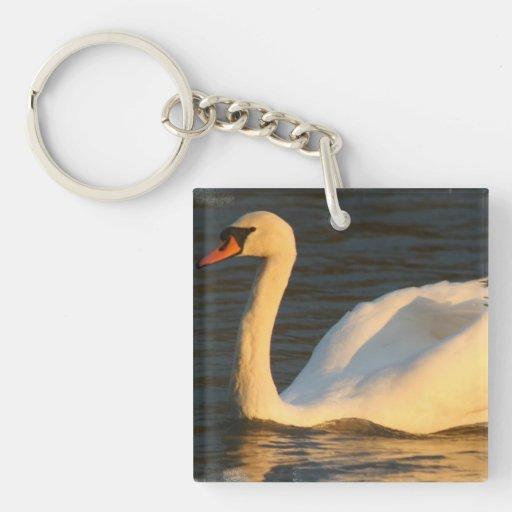 Pretty Swan Keychain Acrylic Keychains