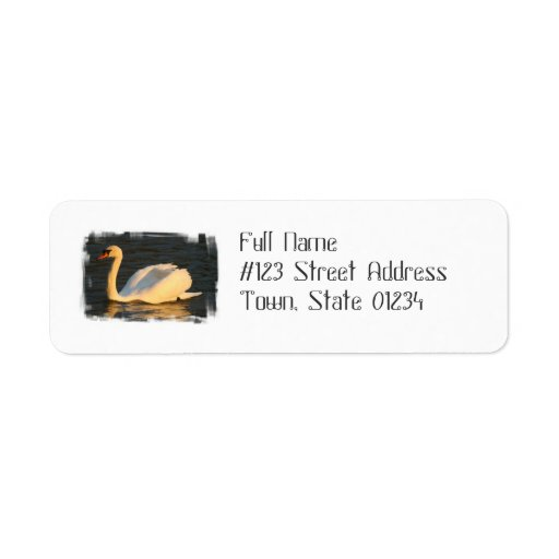 Pretty Swan Mailing Labels