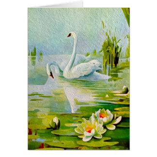 Pretty Swans Custom Greeting Card