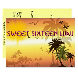 Pretty, Sweet Sixteen, Hawaiian Luau Invitation