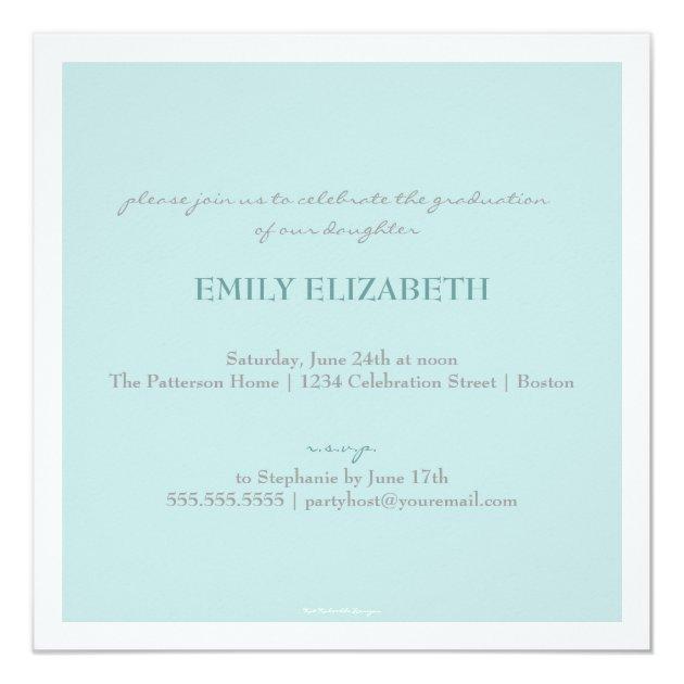 Pretty Swirl Photo Collage Graduation Invitation (back side)