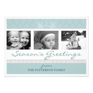 Pretty Swirl Season s Greetings Holiday Photo Card