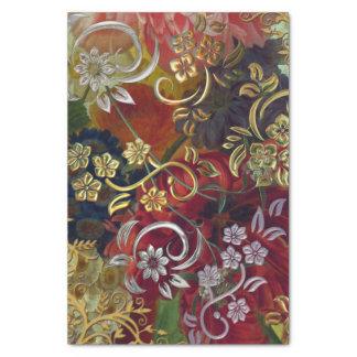 Pretty Swirls Floral Background Tissue Paper