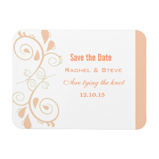 Pretty Swirls Save the Date Magnet, Champagne Magnet