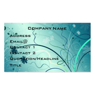 Pretty Swirly Profile Card Double-Sided Standard Business Cards (Pack Of 100)
