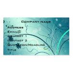 Pretty Swirly Profile Card Business Cards