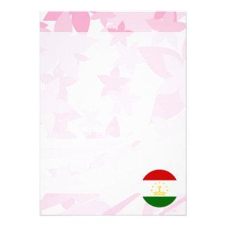 """Pretty Tajik Souvenir 5"""" X 7"""" Invitation Card"""