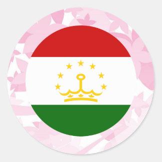 Pretty Tajik Souvenir Classic Round Sticker