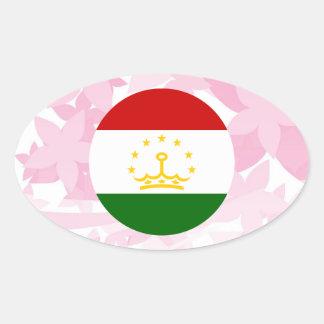 Pretty Tajik Souvenir Oval Sticker