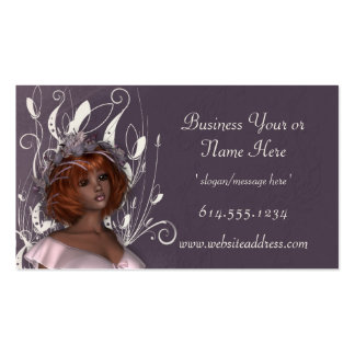 Pretty Tanned Redhead Decorated Business Cards