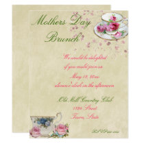 Pretty Tea Cups, Mother's Day or Wedding Brunch Card