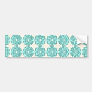 Pretty Teal Aqua Turquoise Blue Circles Disks Bumper Sticker