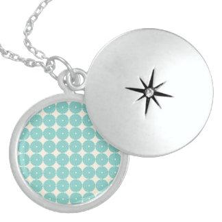 Pretty Teal Aqua Turquoise Blue Circles Disks Lockets